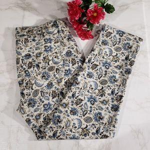 Ann Taylor LOFT Floral modern cuffed crop pants